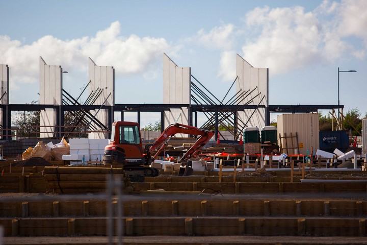 Construction at Hobsonville Point